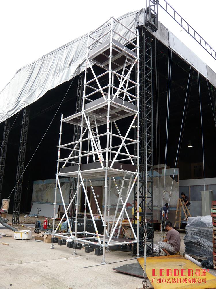 舞台脚手架 搭建音响灯光布景脚手架 推荐GN50盘扣式铝架