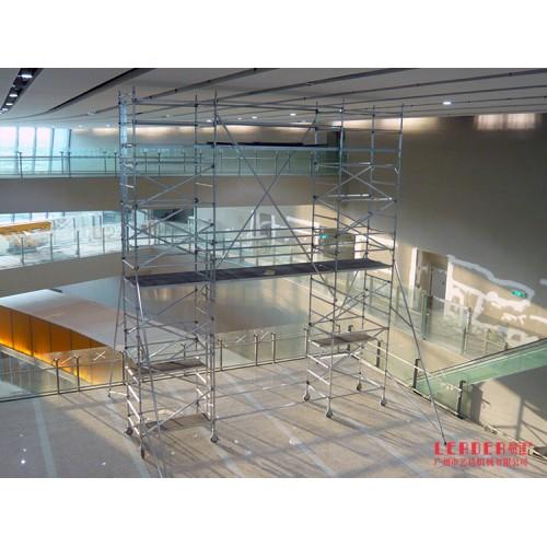 移动工作架 铝合金检修架无须工具搭建用于机场航站楼维修换灯