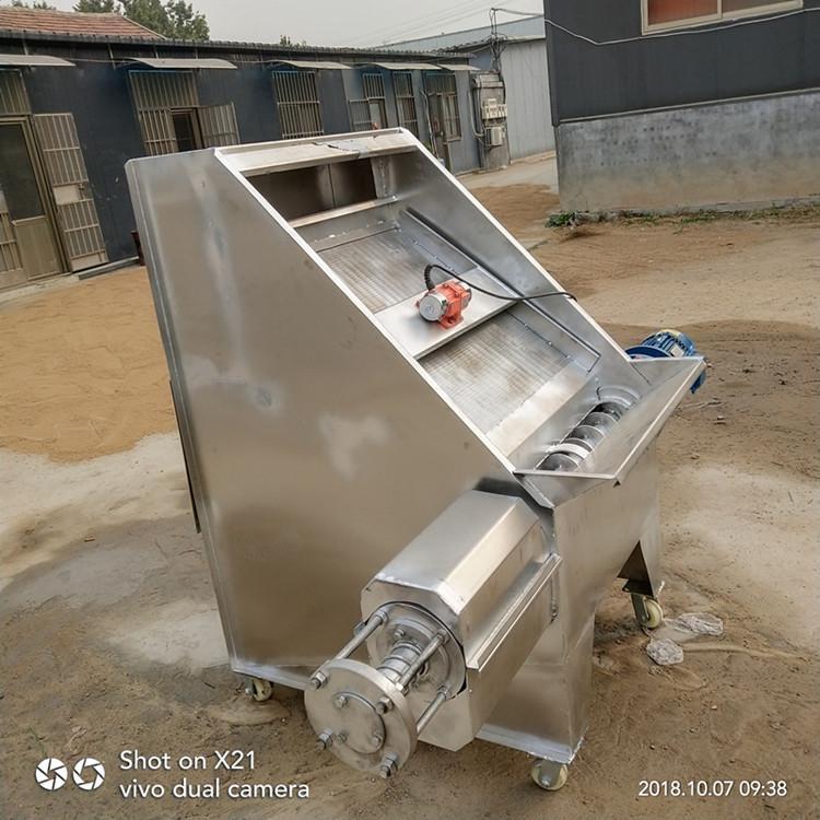 江西厨房泔水分离机  三相电螺旋粪水处理设备