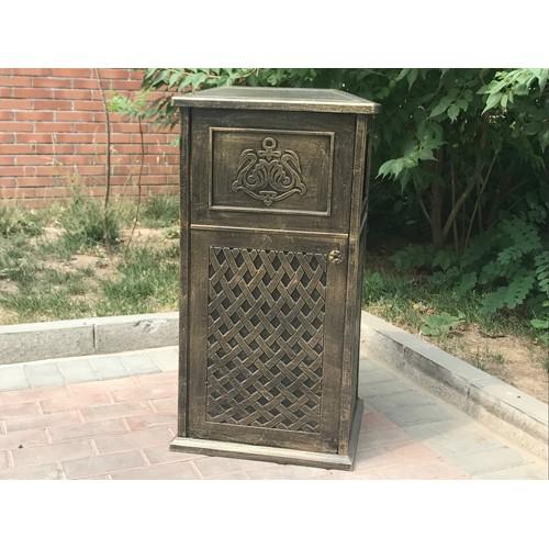 宁夏庭院铸铝垃圾桶生产定制/泊头市韩集兴达铸造厂