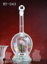 湖北手工艺玻璃酒瓶厂家供货|河间宏艺玻璃值得信赖