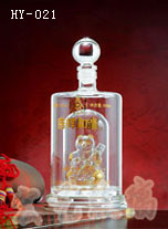 内蒙古工艺玻璃酒瓶订制加工|河间宏艺玻璃信誉可靠