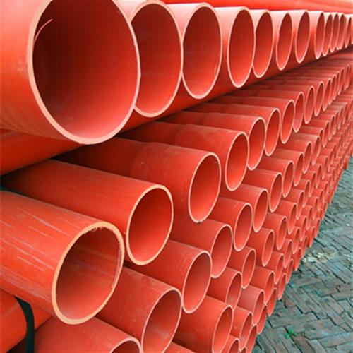 河北CPVC电力管 110PVC电力管 橘红色高压电缆保护管