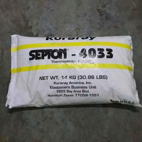 更好的锁油性SEBS日本可乐丽4033高的拉伸强度
