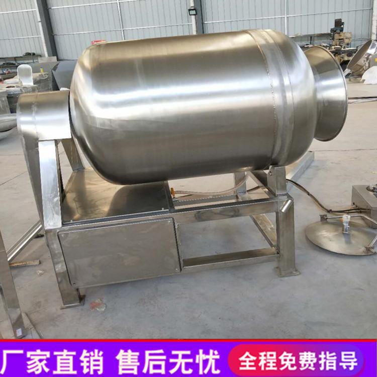 自动出料自动吸料 鸡肉真空滚揉机 隆顺不锈钢猪肉腌制机