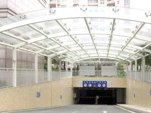 钢结构安装~福鑫腾达彩钢工程设计钢结构商场、车库出入口