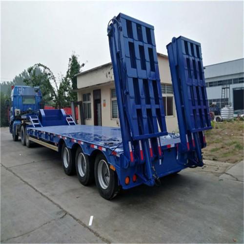 五线十桥拖挂车底盘生产厂家 六线十二桥低平板拖车生产厂