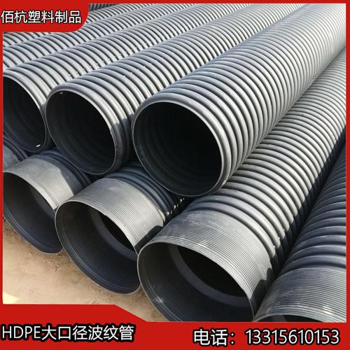 河北佰杭黑色315PE钢带管耐强酸
