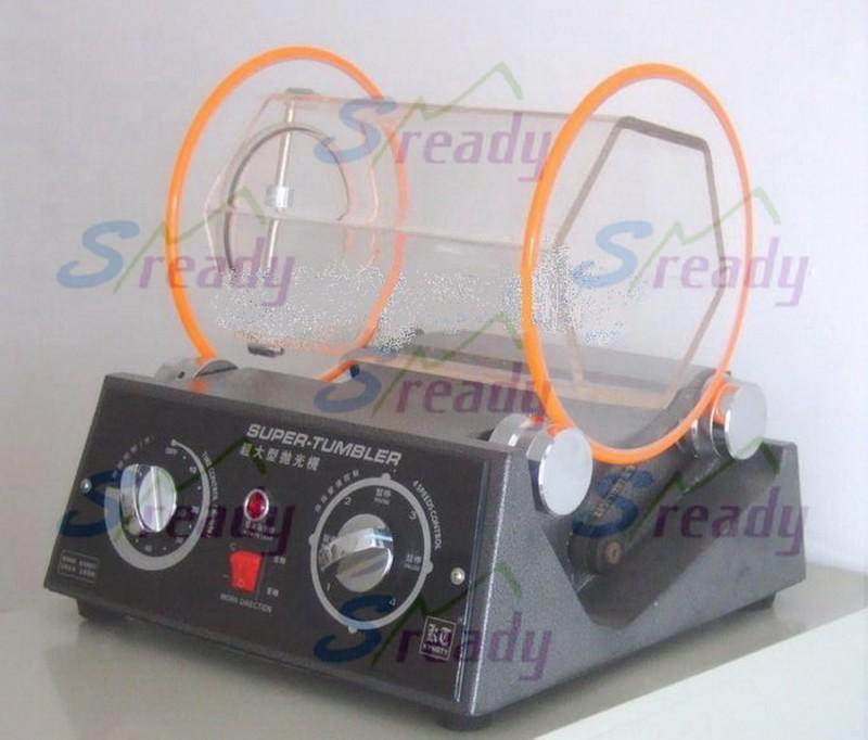 苏州小型滚桶抛光机 迷你滚筒研磨机 桌上型离心光饰机