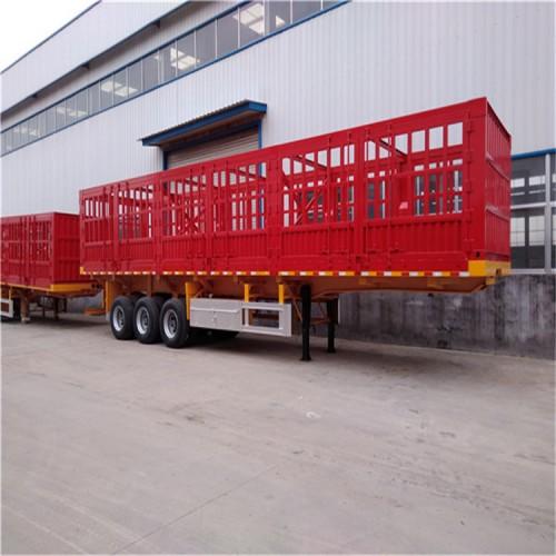 栏板半挂车 13米标箱半挂车 普通栏板标箱自卸车
