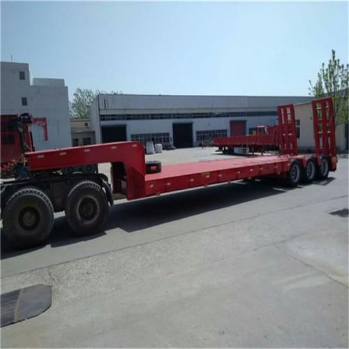 低平板半挂车,挖掘机拖板车-全挂车-大件运输车