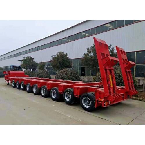 245轮胎13米液压爬梯低平板半挂车 大件运输车厂家
