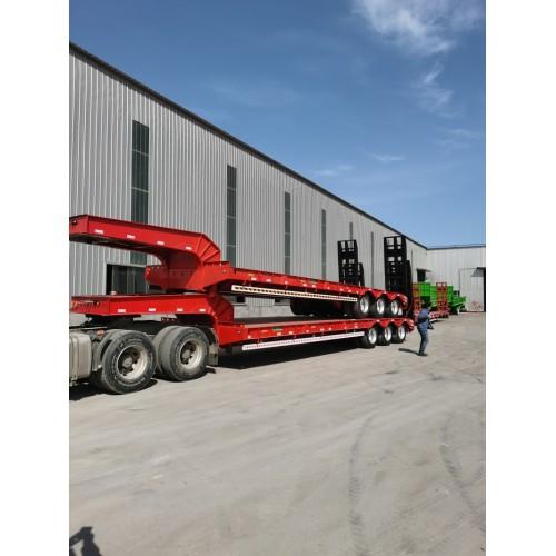 低平板半挂车 新车厂家直销价 13.75米 可定制