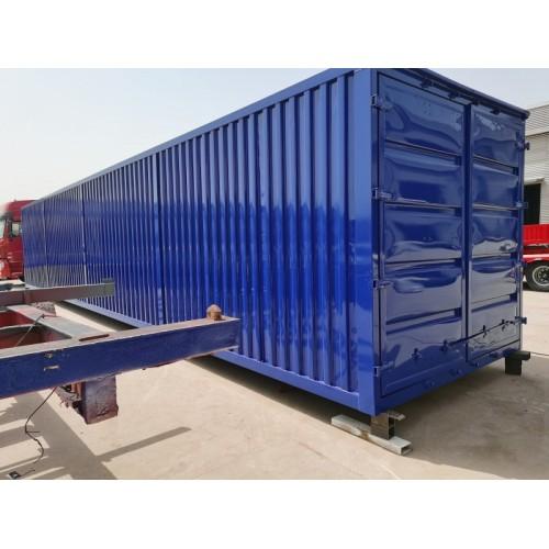 集装箱半挂车 一体式运输集装箱半挂车 骨架集装箱半挂车