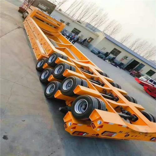 深圳 液压爬梯低平板半挂车厂家五线十桥拖挂车配置