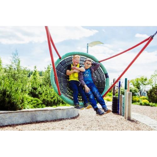 室内外幼儿园儿童游乐园公园景区凉亭圆盘吊绳荡秋千绳网游乐设施