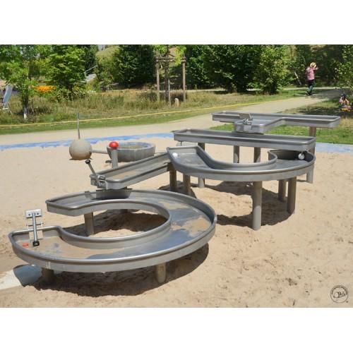定制玩水器阿基米德取水器户外儿童游乐场公园水车沙池玩具戏水器