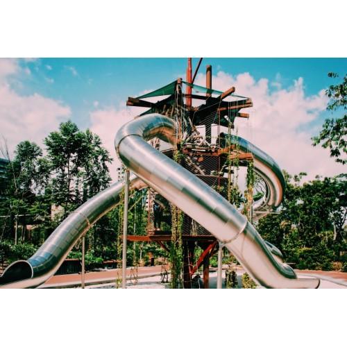 宝宝家用不锈钢滑滑梯户外大型儿童游乐场滑梯幼儿园儿童游乐设施