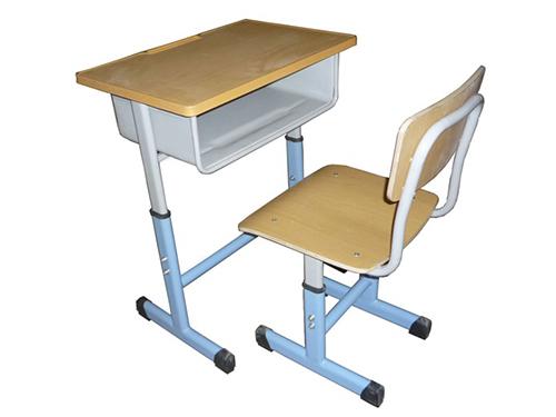 上海课桌椅定制厂家/河北鑫磊家具厂价出货钢木结合课桌凳
