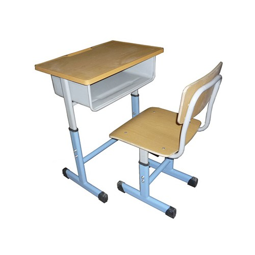 云南课桌椅加工企业/鑫磊承接订制钢木结合课桌凳