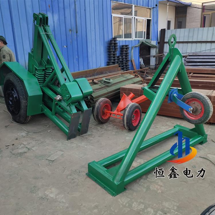 10吨液压电缆放线车 8吨液压电缆拖车恒鑫厂家 液压钢线拖车