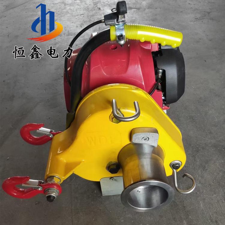 轴传动绞磨机 手提式汽油卷扬机 2吨汽油柴油牵引机