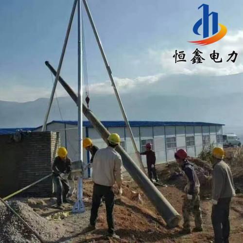 铝合金立杆机 架空工程水泥杆立杆机 电动双杆立杆机恒鑫