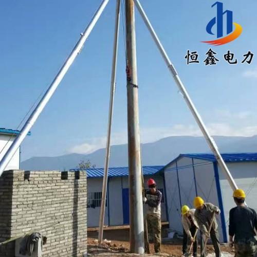 铝合金三脚架立杆机 电动人字抱杆 12米单杆扒杆恒鑫