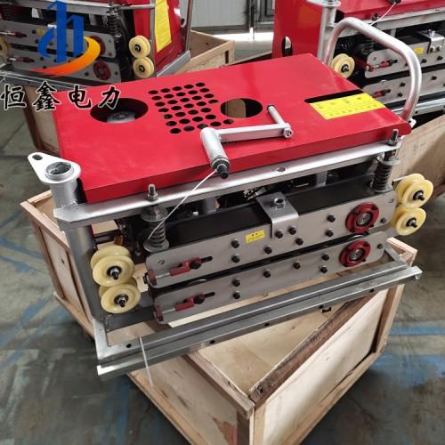 恒鑫皮带传动光缆牵引机 穿管器拉线机 胶块式光缆输送机