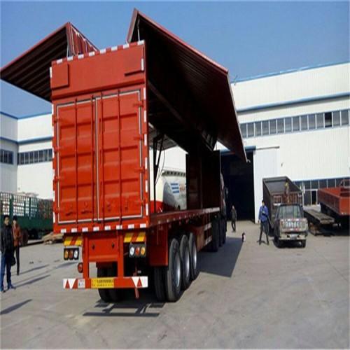 12.5米集装箱半挂车报价 物流运输集装箱半挂车 轻型集装箱