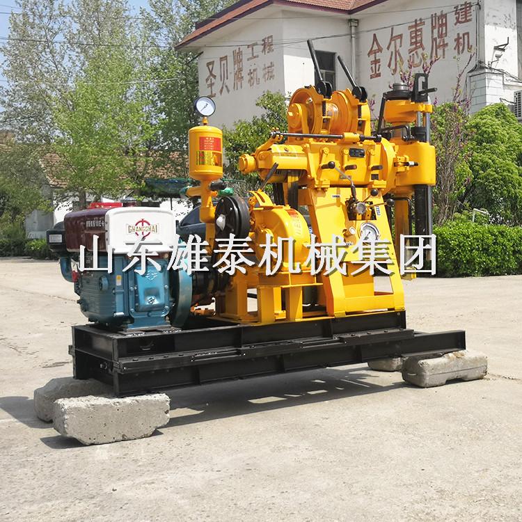 全液压地质勘探钻机 液压岩层水井钻机家用打井设备