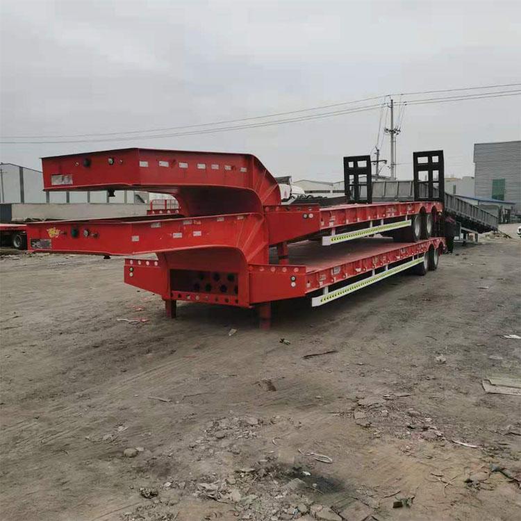 13米大件运输低平板半挂车出售 抽拉式低平板半挂车