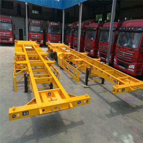 骨架集装箱出售 快递集装箱运输车价格 厢式半挂车出售