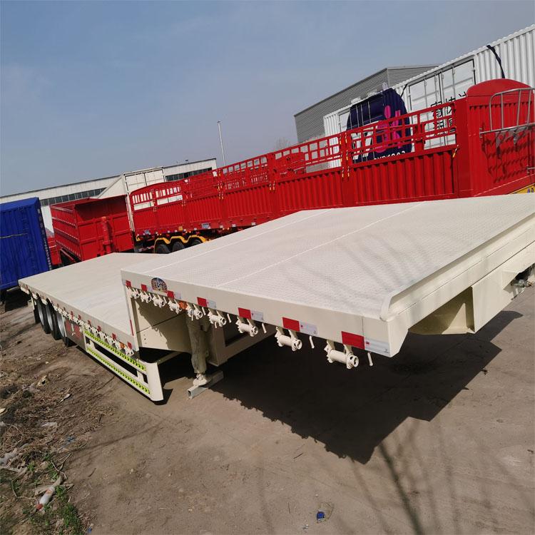 12米大板半挂车报价 梁山直供高低板半挂车 高强板半挂车