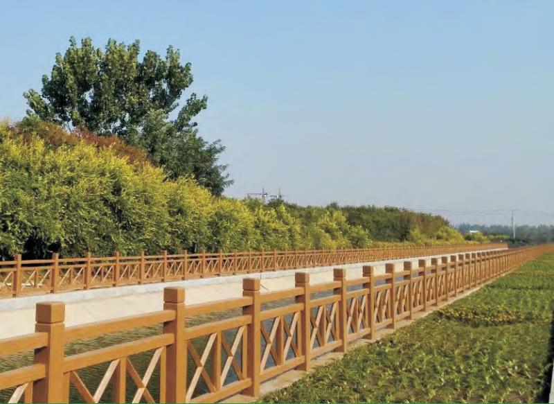 隋唐古建市政仿木护栏景区园林河道水泥仿木桩桥梁护栏厂家