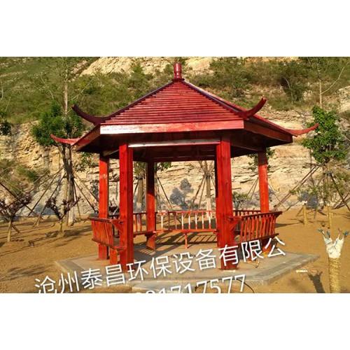 河北木廊架加工厂家~沧州泰昌供应LT0201木凉亭