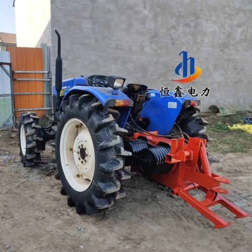 四驱拖拉机绞磨施工 5吨拖拉机绞磨 平轴拖拉机牵引机恒鑫