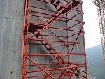 内蒙古赤峰建筑安全爬梯「中天众联」建筑安全梯笼@以诚相待