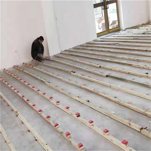 室内篮球馆枫桦木22mm厚运动实木地板定制安装
