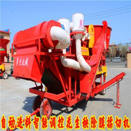 圆盘式自动上料花生秧揉丝机 饲料除膜揉丝机厂家