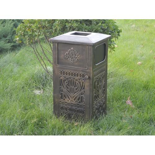宁夏垃圾桶生产~兴达铸造厂订做户外垃圾桶